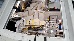 Dummy beim Sitztest in der ORION-Kapsel. (Bild: DLR (CC-BY 3.0))