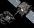 Rosetta: Bisher nur unregelm��iger Kontakt zu Philae