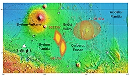 NASA/USGS/MOLA; DLR (nach Giardini et al., 2020)
